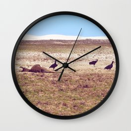 Vultures on Donkey Wall Clock