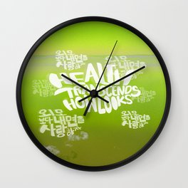 Health Transcends – Lime Wall Clock