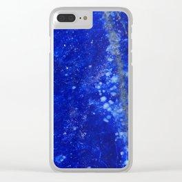 Lapis Lazuli Clear iPhone Case