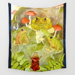 Toad Council Wall Tapestry