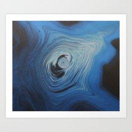 Black Swan Vortex Art Print