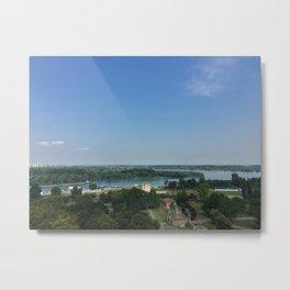 Danube River from Belgrade Fortress Metal Print