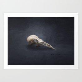 "Bird Skull Painting ""Beauty Bone Deep"" by Brooke Figer Art Print"