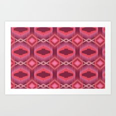 Tribal Red Art Print