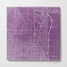 Scottsdale Map, USA - Purple Metal Print