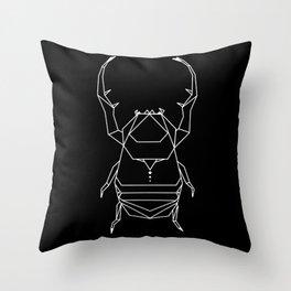 Scarab Black Throw Pillow