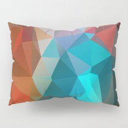 Abstract bright background of triangles polygon print illustration Pillow Sham