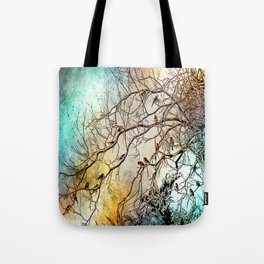Out On A Limb Jewel Tones Tote Bag
