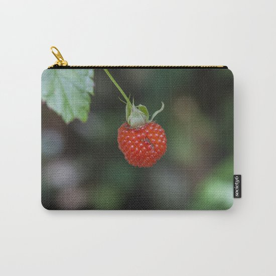Wild Raspberry Carry-All Pouch