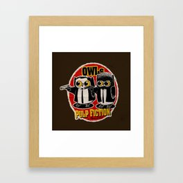 Owls Pulp Fiction Framed Art Print