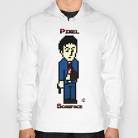 scarface Hoodies featuring Pixel Scarface by Rapsmyinitials
