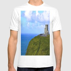 O'Brien's Tower Mens Fitted Tee White MEDIUM