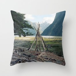 Den Throw Pillow