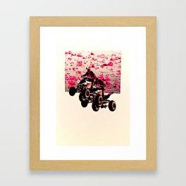 Flower Riders Framed Art Print