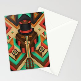 Geometric Guitar Stationery Cards