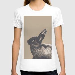 Little Rabbit on Sepia #1 #decor #art #society6 T-shirt