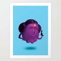 lumpy space princess Art Prints featuring Lumpy Space Princess Leia by Joshua Ang