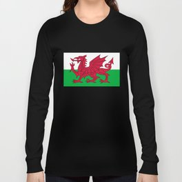 National flag of Wales - Authentic version Long Sleeve T-shirt