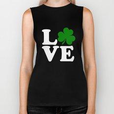 Love with Irish shamrock Biker Tank