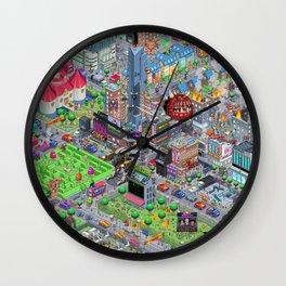Videogame City V2.0 Wall Clock