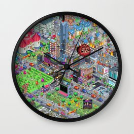Videogame City V2.0 Wall Clock
