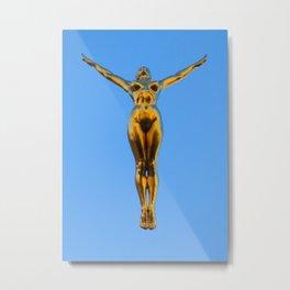 Golden Lady Metal Print