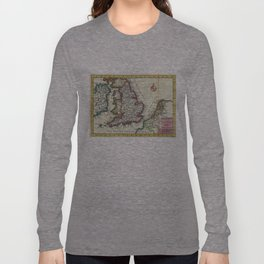 Vintage Map of England (1747) Long Sleeve T-shirt