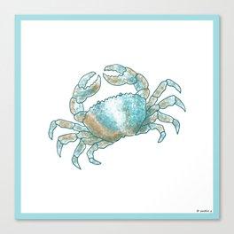 Aqua Colored Crab Canvas Print