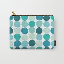 Midcentury Modern Dots Blue Carry-All Pouch