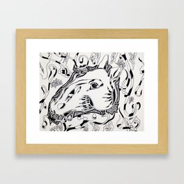 """""""Competitions are for horses, not artists"""" - Bella Bartok Framed Art Print"""