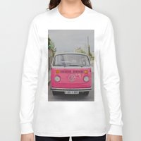 hot pink Long Sleeve T-shirts featuring Hot Pink Lady by Hello Twiggs