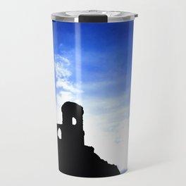 Mowcop Folly Sunst Silhouette Travel Mug