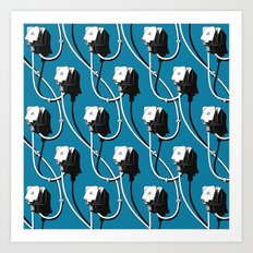 Wired. Blue Art Print