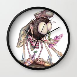 The Shoe Fly (A Flew) Wall Clock