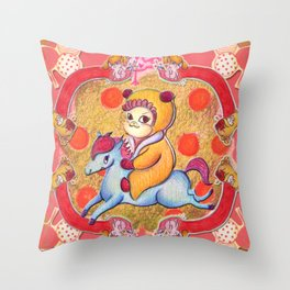 Lil Jas and Luck Throw Pillow