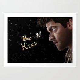Be Kind Misha Collins Illustration Art Print