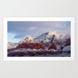 Sedona Red Rocks Covered in Snow Art Print