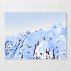 Winter Flight - Drawing 2 Canvas Print