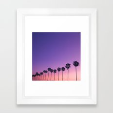 Palm Sunset Framed Art Print
