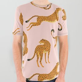 Leopard pattern All Over Graphic Tee