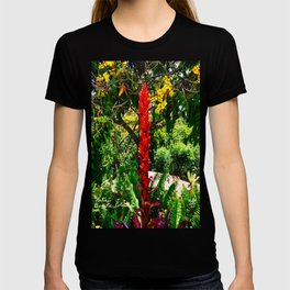 Alpinia purpurata – Red Ginger Flower, Nature in Bogota, Colombia T-shirt