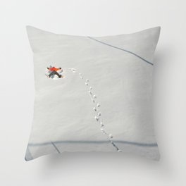 """Snow Angel"" Throw Pillow"