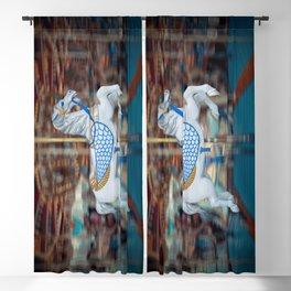 Carousel Pegasus Whimsical Magical Carnival Circus Fair Vintage Nostalgia Fun Blackout Curtain