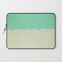 A Single Aqua Scallop Laptop Sleeve