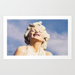 0243 LOVE Forever Marilyn - Seven Year Itch - Monroe Art Print