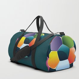 Colorful Soccer Ball Duffle Bag