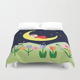 moonlight , nursery decor Duvet Cover