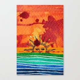 Sunset in planet Bizarro Canvas Print