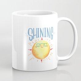 Sun yellow and denim lettering Coffee Mug
