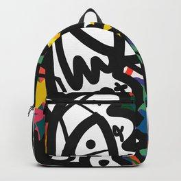 Street Art Graffiti Tag Doodles White Monster by Emmanuel Signorino Backpack